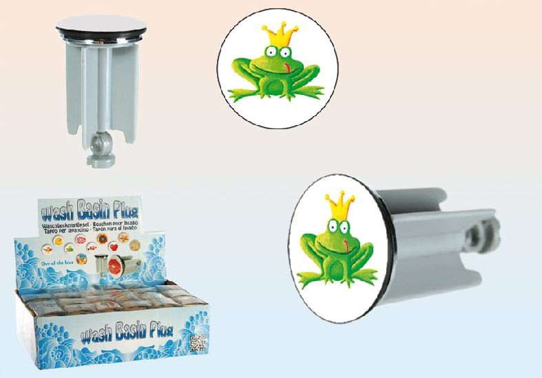 waschbeckenst psel st psel waschbecken abflussst psel stopfen froschk nig ebay. Black Bedroom Furniture Sets. Home Design Ideas