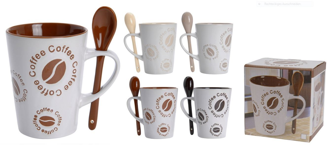 4er set owl tassen coffee mug becher kaffeetasse kaffee tee eulen candy pott ebay. Black Bedroom Furniture Sets. Home Design Ideas