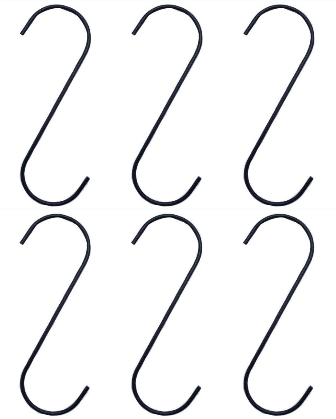 haken s form metall haken xxl schwarz 25 cm f r haus heim und hobby 6 st ck k che haushalt. Black Bedroom Furniture Sets. Home Design Ideas