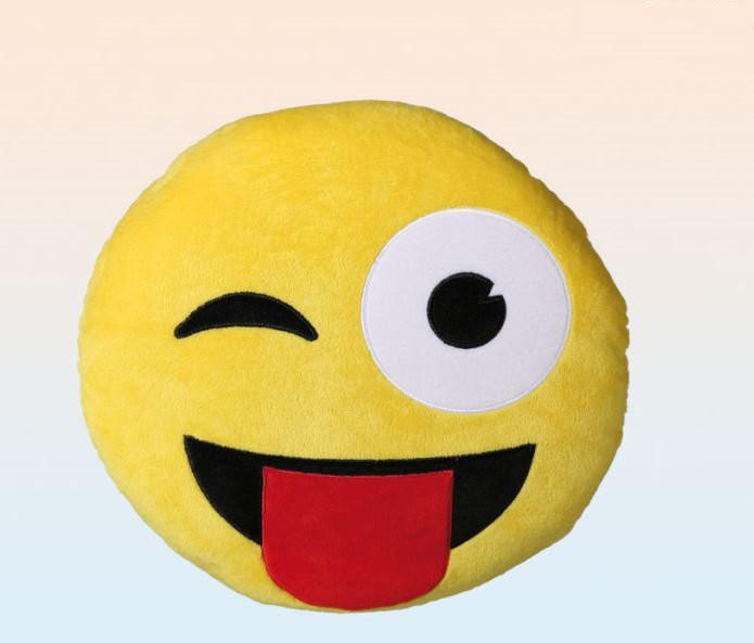 kissen dekokissen emoticon emoji smiley frech herz cool. Black Bedroom Furniture Sets. Home Design Ideas