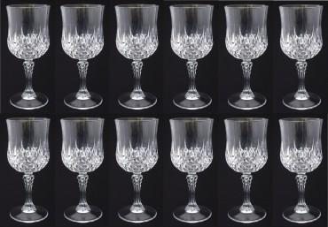 weingl ser gl ser kunststoff in kristallglas optik 200 ml 12 st ck k che haushalt trinkgl ser. Black Bedroom Furniture Sets. Home Design Ideas