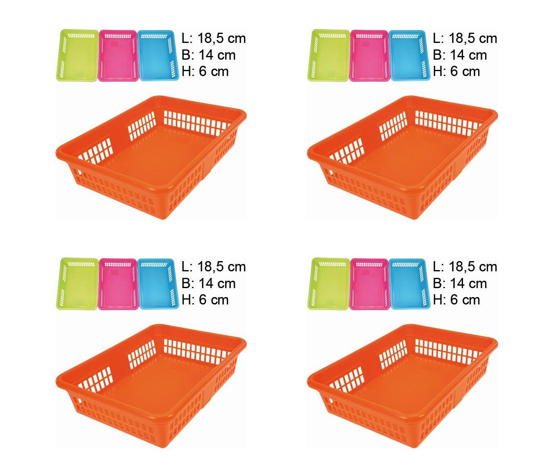 aufbewahrungskorb klein schubladen k rbe 4 farbig sortiert. Black Bedroom Furniture Sets. Home Design Ideas